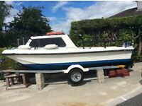 17' Dory Boat with Trailer plus 9' Punt Boat on Trailer