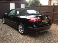 FUN SAAB 9-3 AERO 2.0T CONVERTIBLE. 2005/05 plate. LOW 84000 MILES.LADY OWNER