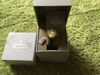 Vivienne Westwood Time machine Ladies Watch still tagged oyster Coloured face leather strp