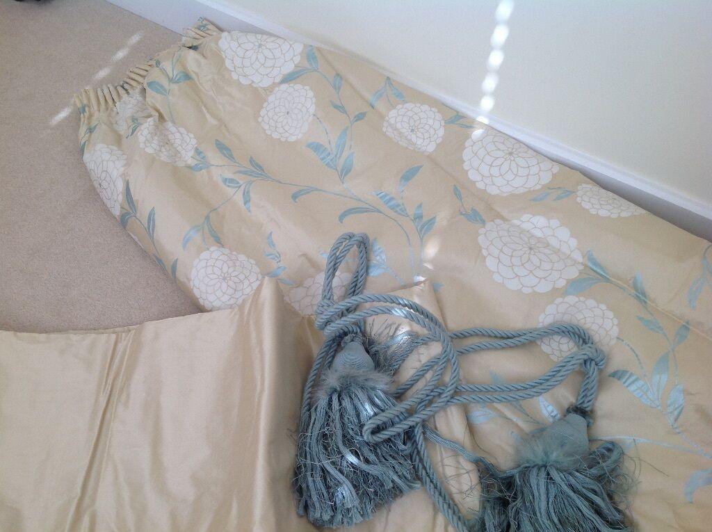 Laura Ashley Erin Silk Curtains In Emsworth Hampshire Gumtree - Laura ashley silk curtains