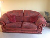 Comfy sofa and 2x armchairs