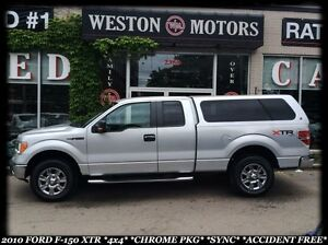 2010 Ford F-150 XTR *4X4 *BT *SYNC *CHROME PKG *ACCIDENT FREE!!!
