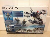 Brand New Mega Bloks Halo Police Air Support Hornet with 2 Micro Action Figures