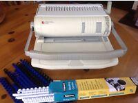 Document comb binding machine