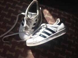 Adidas superstar trainers size 2