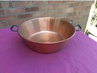 Copper preserving bowl