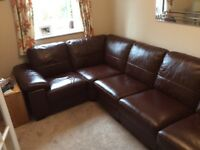 DFS Linea 5 piece modular leather sofa.