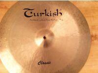 Turkish China and Paiste crash/ride cymbals