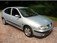 2002 RENAULT MEGANE **EXCELLENT CONDITION**MOT september **RUNS AND DRIVES GREAT