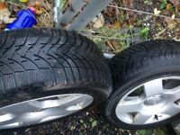 4 Audi A4Alloy wheels with Michelin snow tyres.