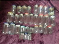 FREE Various clean glass jars with lids FREE FREE FREE