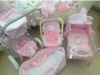 Baby Annabel Doll with pram, car seat, outfits and many more