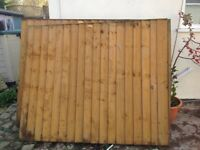 2 WOODEN FENCING PANELS FROM DANBURY FENCING