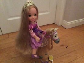 Rapunzel toddler doll and maximus the horse