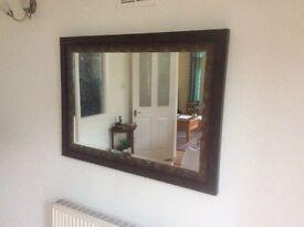 Sterling Mahogany look mirror