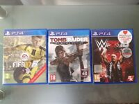 3 Games for play station 4 in Perfect working order and good condition with no issues