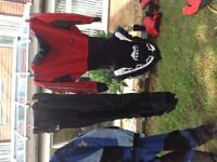 Large selection of dry cags dry suit