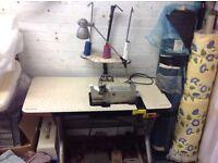 Industrial sewing bulk edging over locker machine