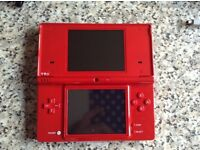 Nintendo DS Red with 2 games