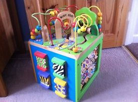 large wooden activity cube in great condition