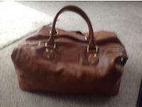 John Rocha Mens Designer Leather,large holdall.New.