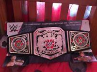 WWE UK Championship belt signed by Tyler Bate Brand new