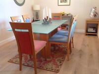 Stunningly beautiful dining room table and 6 chairs