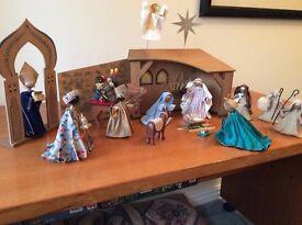 Hand-crafted Nativity Set