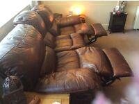 3 Seater Leather Sofa 2