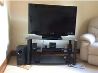 Panasonic television , panasonic DVD Home theatre sound system and stand