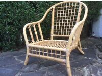 Conservatory chairs - wicker without cushions x 2