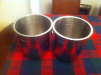Excellent condition 2x Champagne cooler bucket stainless steel