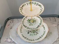 Colclough Sedgley Bone China 3 Tier Cake Stand.