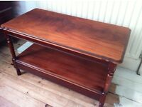 Shabby Chic Wooden Coffee Table with Shelf or TV Bench / Can Deliver