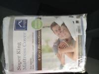 Mattress protection cover super king/double BRAND NEW UNUSED