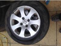 Set of four alloys Peugeot/ford