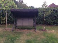 3 seater garden swinging hammock with canopy