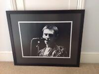 Large professionally framed Paul Weller (Jam era) print