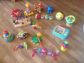Bargain only £15 for large selection of baby toys for sale.