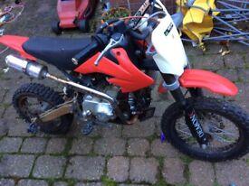 110cc 4 speed pit bike