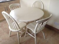 Cream Table and Four Chairs