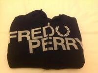 Fred Perry zip up long sleeved jacket - XL Boys black