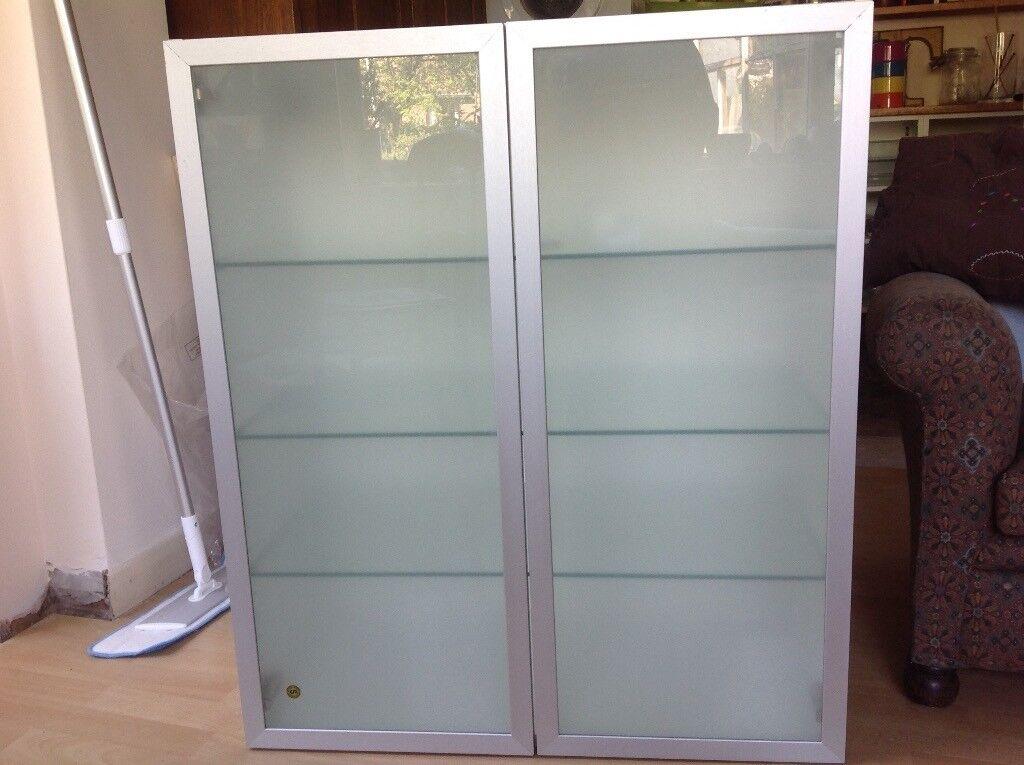 Ikea Glass Door Double Kitchen Wall Cabinet In Whitstable Kent