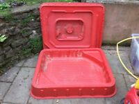 ELC red sandpit and lid