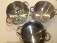 Chef- ology stainless steel double decker steamer pan setp