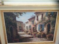 """Painting, """"Walkway of flowers"""""""