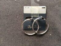 Silver Coloured Hoop Earrings