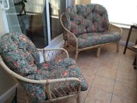 Cane Three Piece Conservatory Suite