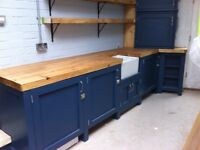 Freestanding solid timber kitchen run units