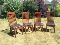 4 Next Solid Wood Dining Chairs in Great Condition